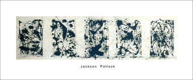 Jackson Pollock Black and white Polyptych