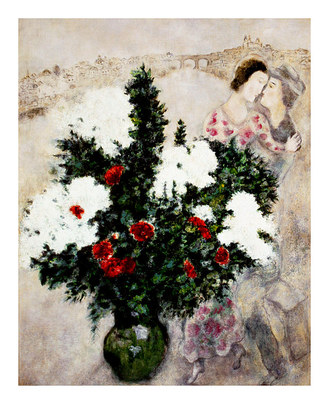 Chagall marc the white lilacs large