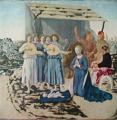 Piero della Francesca Die Geburt Christi