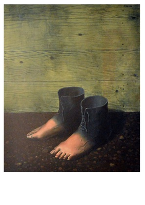 Rene Magritte Das rote Modell