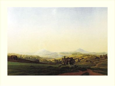 Caspar David Friedrich Boehmische Landschaft mit dem Milleschauer