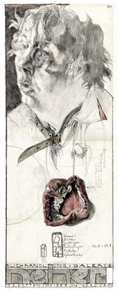 Horst Janssen Selbst mit Paprikaherz