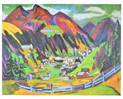 Ernst Ludwig Kirchner Blick auf Davos