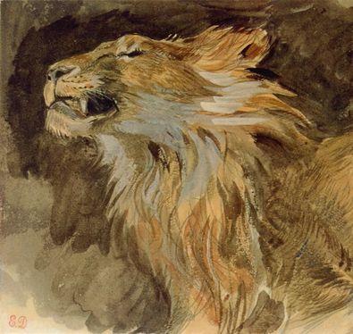 Eugene Delacroix Loewenkopf