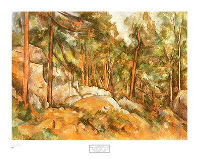 Paul Cezanne Rocks in the Park of Chateau Noir