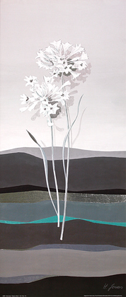 Horst Jonas 2er Set 'Flowers in Silver I + II'