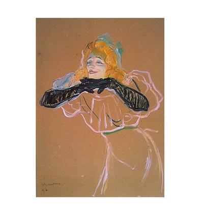 Henri Toulouse-Lautrec Yvette Guilbert singt Linger Longer Loo