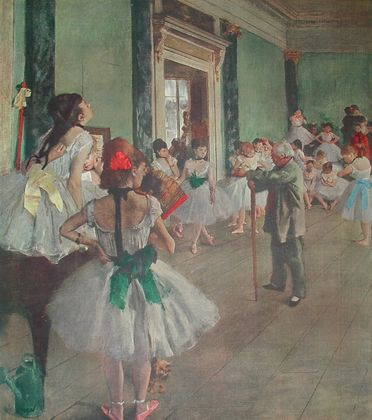 Degas edgar ballett schule large