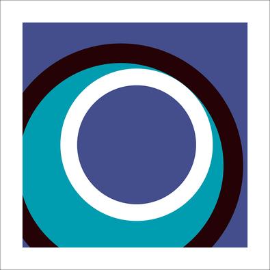 Carl Abbott Circles and Colors (Blue), 2013