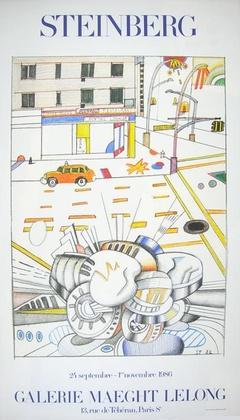 Steinberg Ausstellung Galerie Maeght 1986