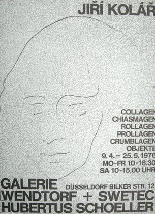 Jiri Kolar Ausstellungsplakat 1976