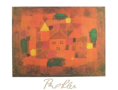 Paul Klee Landschaft bei Sonnenuntergang