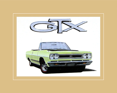 Chrysler Historical Prints 1968 Plymouth GTX Convertible 440