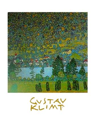 Gustav Klimt Unterach am Attersee (mit Schrift)