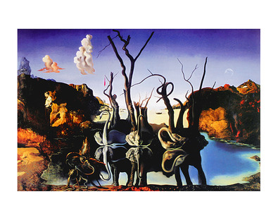 Salvador Dali Swans Reflecting Elephants, 1937