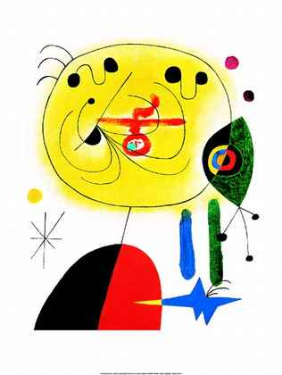 Joan Miro And Fix the Hairs of the Star