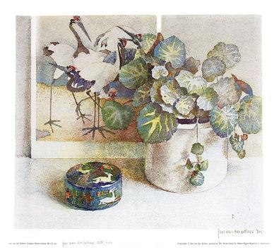 Jan van der Scheer Cranes (handsigniert)