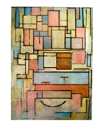 Piet Mondrian Composition with Color Areas