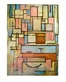 Mondrian piet composition with color areas medium