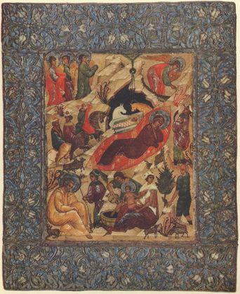 Ikone Russisch Christi Geburt