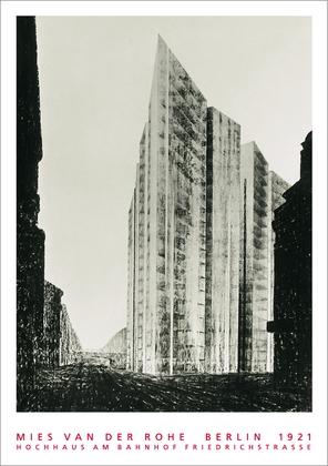 Ludwig Mies van der Rohe Berlin, Hochhaus Friedrichstrasse, 1921