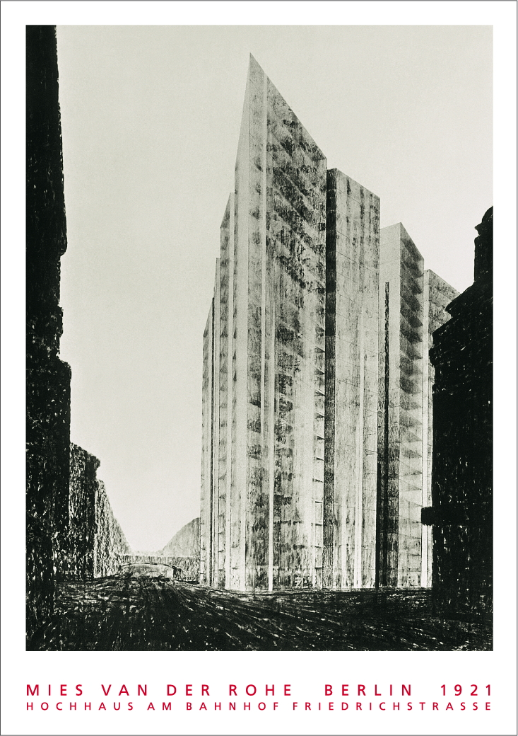 Ludwig Mies Van Der Rohe Berlin Hochhaus Friedrichstrasse 1921