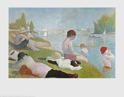 Georges Seurat Badende bei Asnières