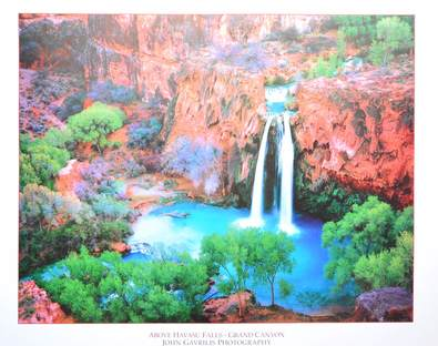 John Gavrilis Above Havasu Falls - Grand Canyo