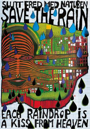 Friedensreich Hundertwasser Save the rain
