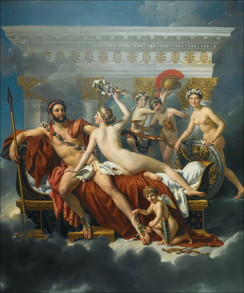 Jacques-Louis David Mars desarme par Venus
