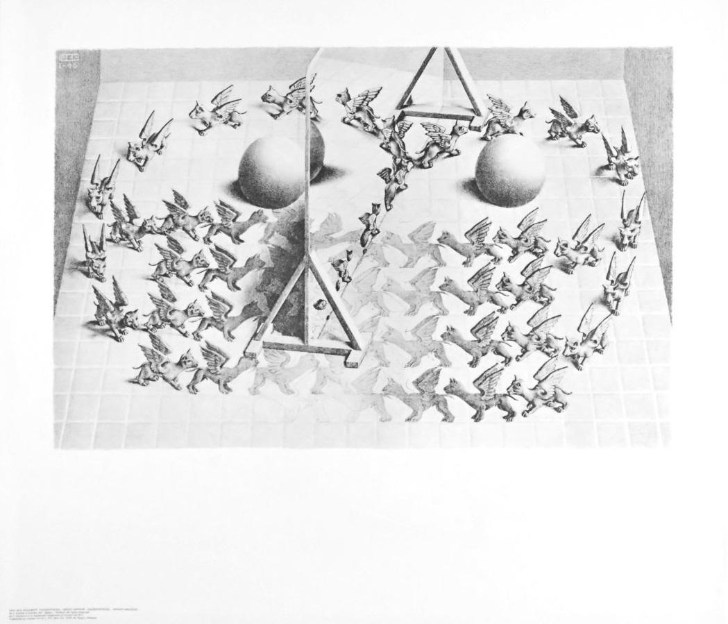 MC Escher Zauberspiegel Poster Kunstdruck bei Germanposters.de