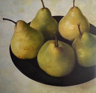 Fabrice De Villeneuve Classic Bartlett Pears