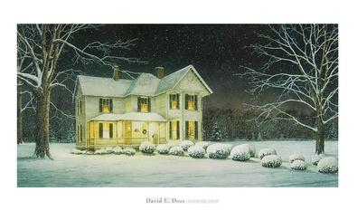 E doss david evening snow large