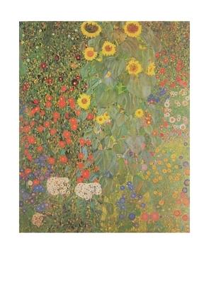 Gustav Klimt Blumengarten (ohne Schrift)