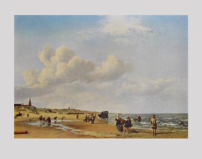Adriaen van de Velde Der Strand von Scheveningen