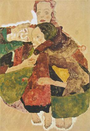 Egon Schiele Gruppe von drei Maedchen   1911