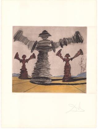 Salvador Dali Don Quijote (D) - Der drehende Mann