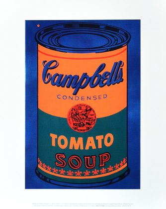 Andy Warhol Colored Campbell's Soup Can 1965 (blue & orange)