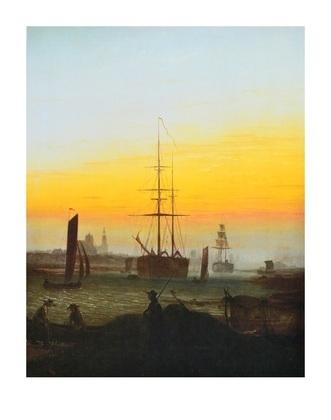 Caspar David Friedrich Der Greifswalder Hafen (lackiert)