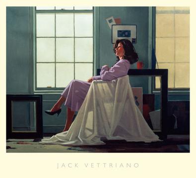Jack Vettriano Winter Light and Lavender