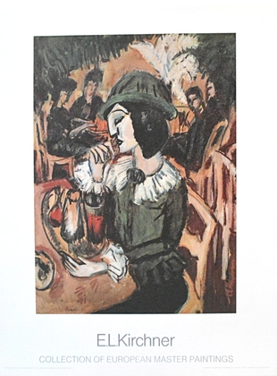 Ernst Ludwig Kirchner Gruene Dame im Gartencafe