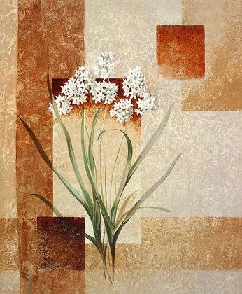 Karin van der Valk 2er Set 'Zarte Blumen I + II'