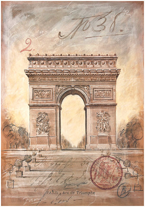 Chad Barrett Arc de Triomphe Sketch