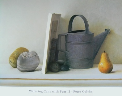 Peter Colvin Watering Cans with Pear II