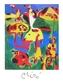 Joan Miro Personnage et montagnes. Maggio