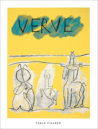 Pablo Picasso Cover for Verve, 1951