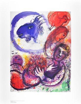 Marc Chagall Die blaue Ziege