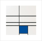Mondrian piet untitled composition with blue medium