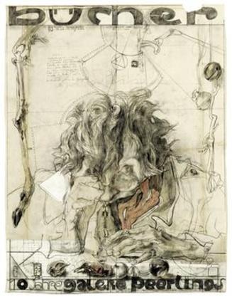 Horst Janssen 10 Jahre Galerie Peerlings handsigniert