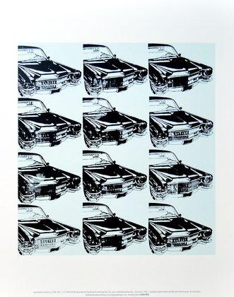 Andy Warhol Twelve Cars 1962
